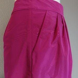 Banana Republic Skirts - Banana Republic Pink Magenta Taffeta Pleat Skirt